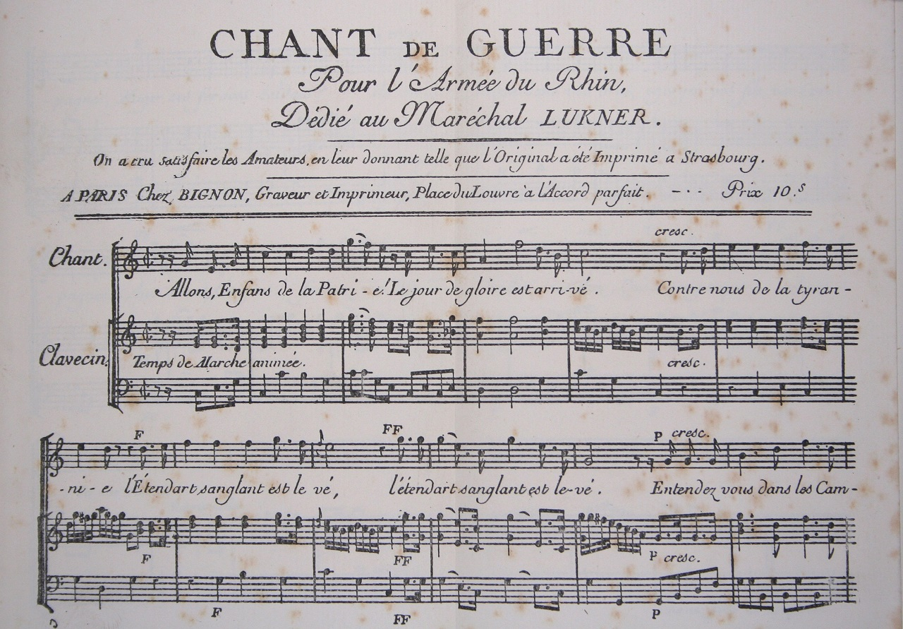 L'origine de l'hymne national